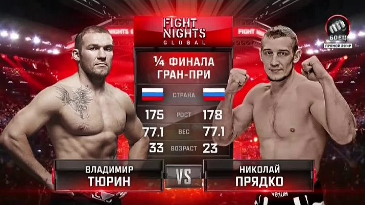 Владимир Тюрин vs. Николай Прядко __ FIGHT NIGHTS GLOBAL 46