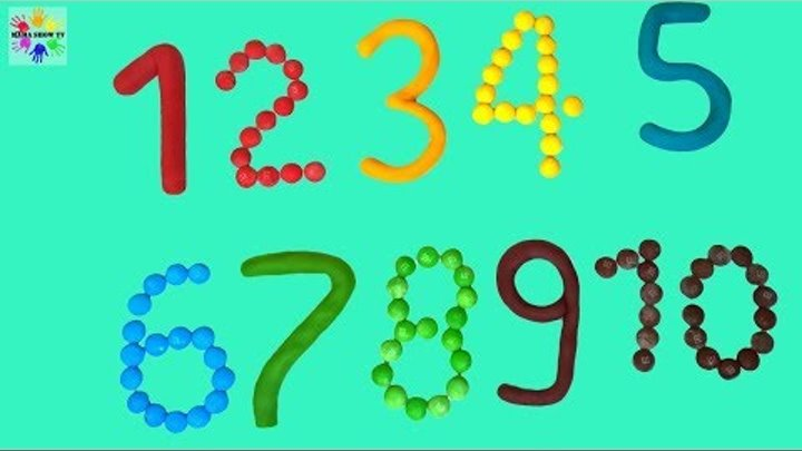 Учим цифры и цвета на английском языке с Candy M&M's and Play Doh Learn the numbers and colors