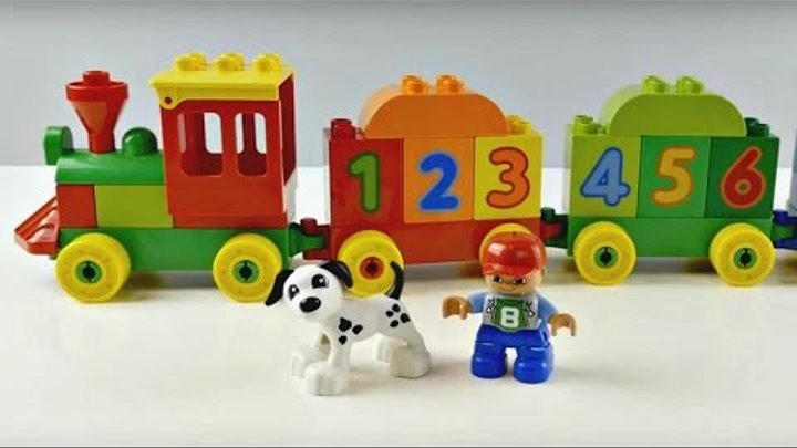 LEGO Duplo. Educational video for kids. Learn numbers with Lego Duplo Train.