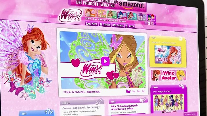 Winx Club - Art&Craft- Butterflix flags!