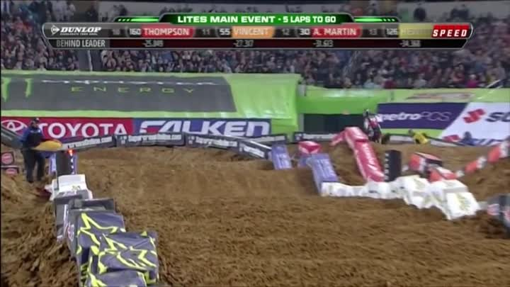 EVERY CRASH from 2012 AMA Supercross Season in HD
