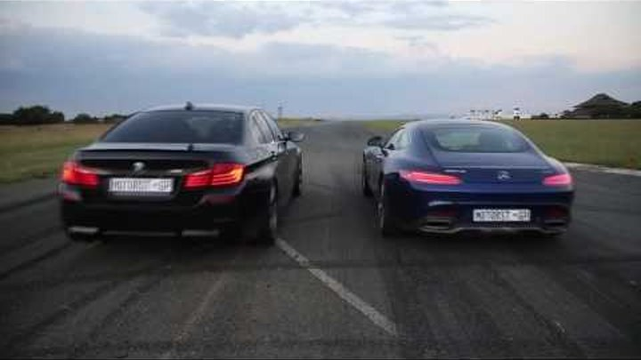 Mercedes Benz AMG GT-S vs BMW M5 F10 Competition