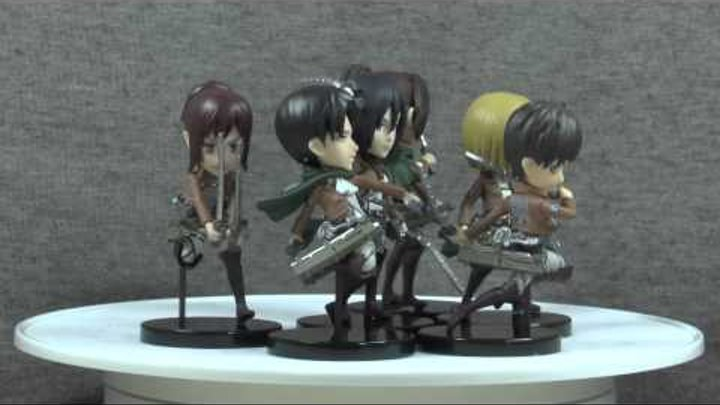 Anime figure review - обзор аниме фигурки - Shingeki no Kyojin World Collectable Figure Vol. 1
