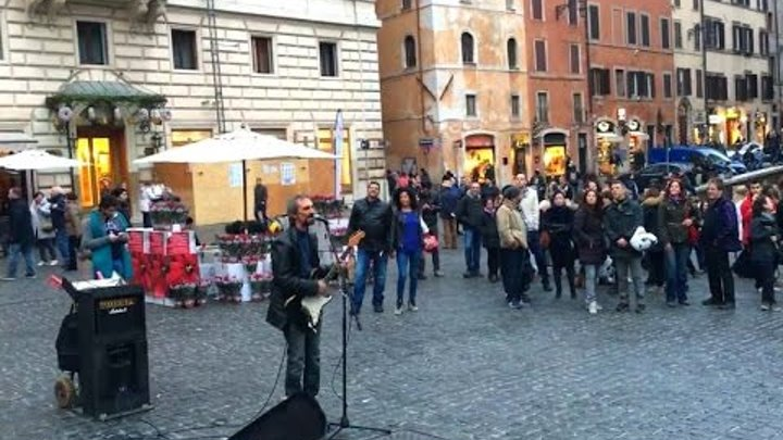 Pink Floyd - Another Brick In The Wall - Busker Cover @ Pantheon Rome
