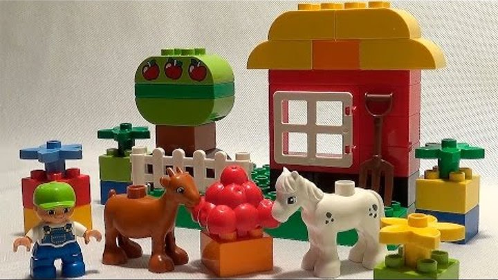 Носики Курносики • Конструктор Лего ферма. Lego Duplo farm animals