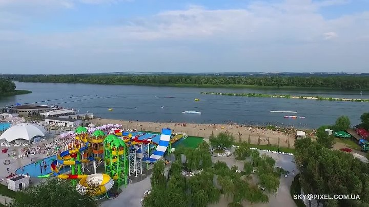 Аквапарк в Днепропетровске - Happy Day. Аэросъемка _ Aerial video AquaPark Happy Day in Dnepr