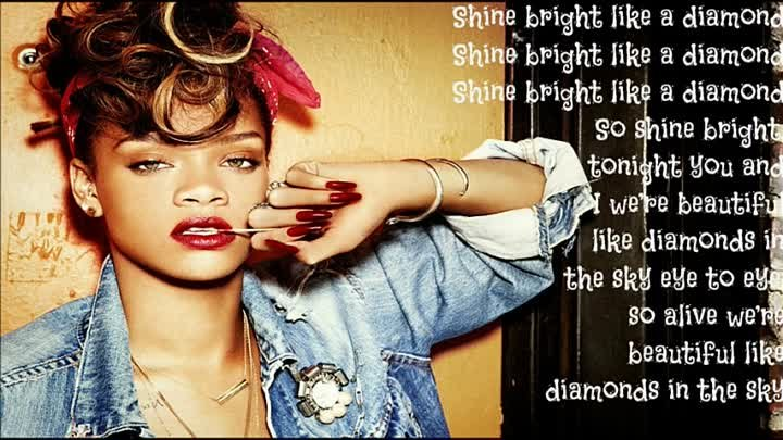 Rihanna- Diamonds (In The Sky) Lyric Video offical song (NEW) HD 2012