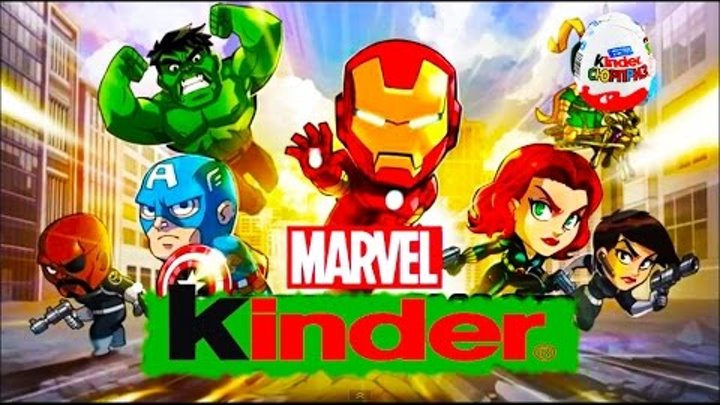 VIDEO FOR CHILDREN - New Kinder MARVEL Eggs with Super Heroes 2015, Марвел Супергерои Киндер 2015