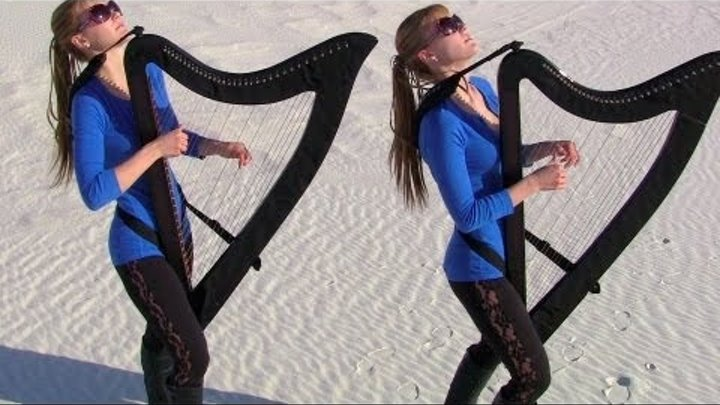 DREAM ON - Aerosmith (Harp Twins electric) Camille and Kennerly