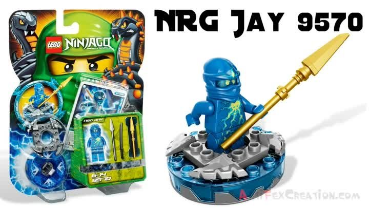NRG JAY vs FANGDAM Lego Ninjago Spinjitzu Battle & Stop Motion Set Review 9570 9571