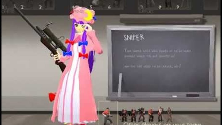 Team Fortress 2 Female Models - Touhou Style!