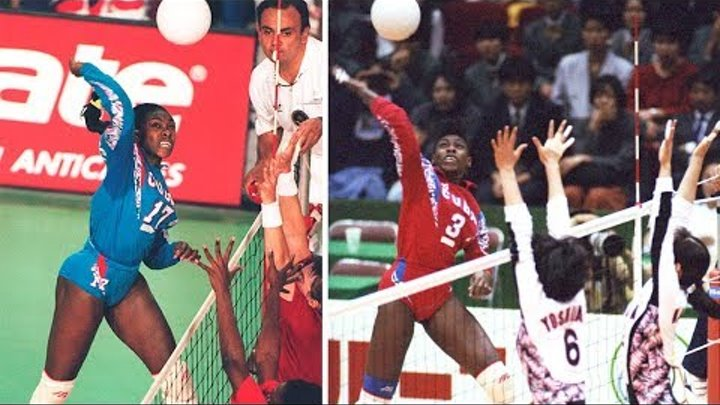 TOP 20 Monster 3rd Meter Spike by Mireya Luis Height 173cm Spike 338cm Legend of Womens Volleyball