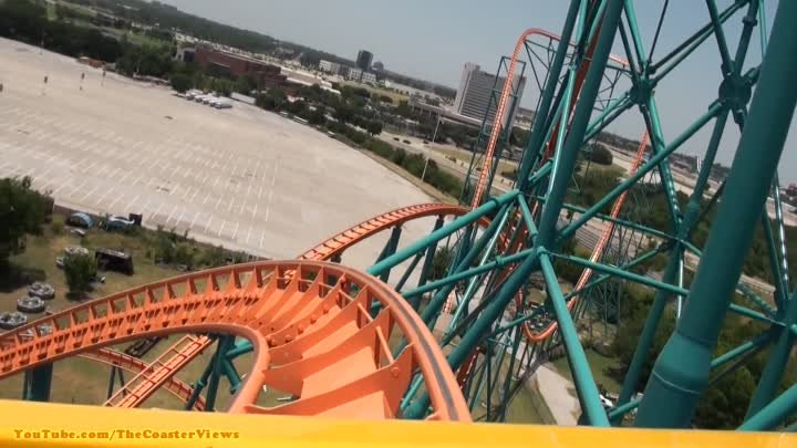 Titan Roller Coaster HD POV Front On-Ride Six Flags Over Texas
