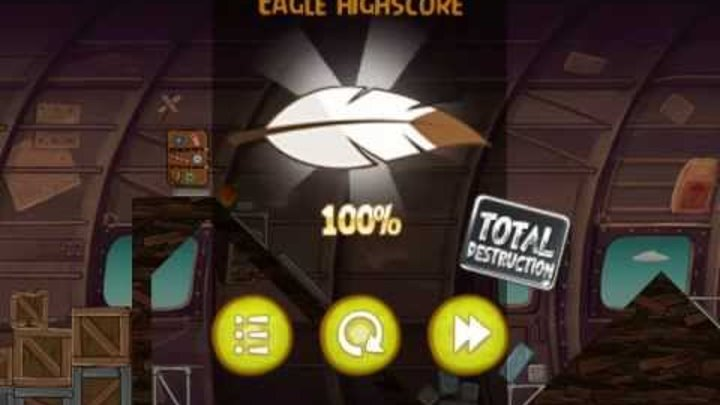 Angry Birds Rio Level 12-14 - Mighty Eagle - 100% - Total Destruction - Totale Zerstörung
