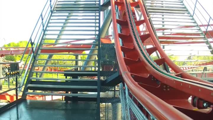 X-Flight POV *REAL* Six Flags Great America 2012 Roller Coaster Front Seat On-Ride HD