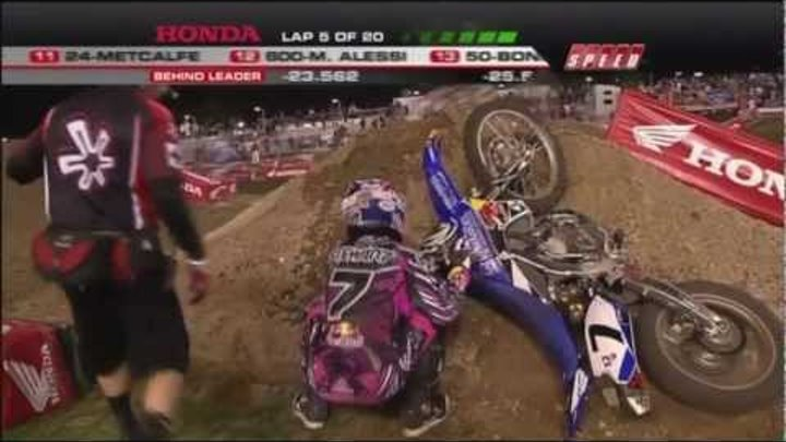 EVERY CRASH from the 2011 AMA Supercross Season HD