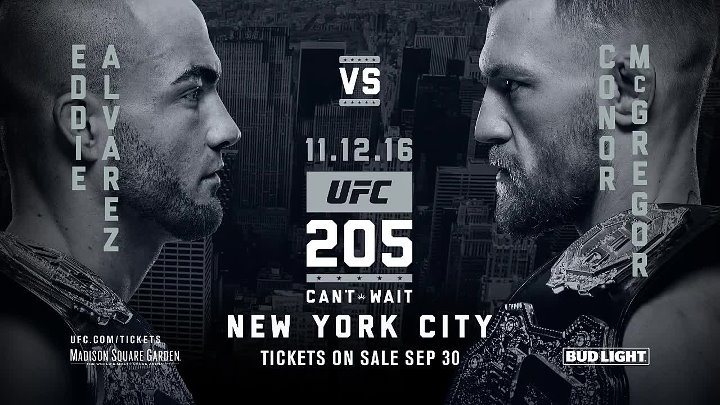 UFC 205 On Sale Press Conference_ Eddie Alvarez vs Conor McGregor Faceoff