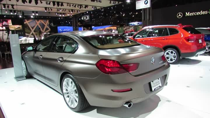 2013 BMW 640i Gran Coupe Exterior at 2012 New York International Auto Show NYIAS