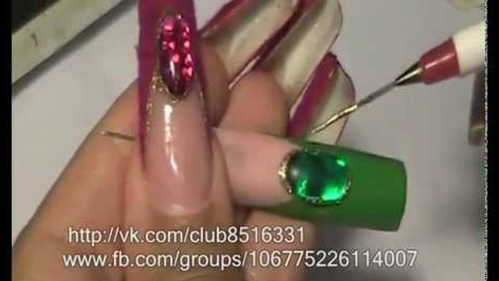 """Nail design from Olga Vozian """"Opal and cashmere"""". Френч-декор""""опал и кашемир"""""""