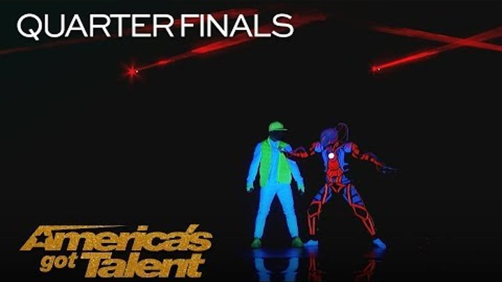 UDI Dance: Glow In The Dark Dance Crew Brings Video Games To Life - America's Got Talent 2018