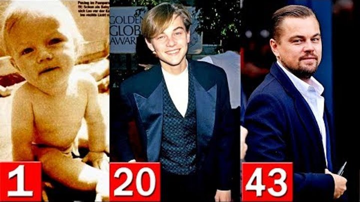 Leonardo DiCaprio Transformation from 1 to 43 Years Old