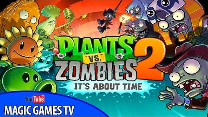 Растения против зомби 2 игра для детей | Plants vs Zombies 2 (iPad Gameplay Video)