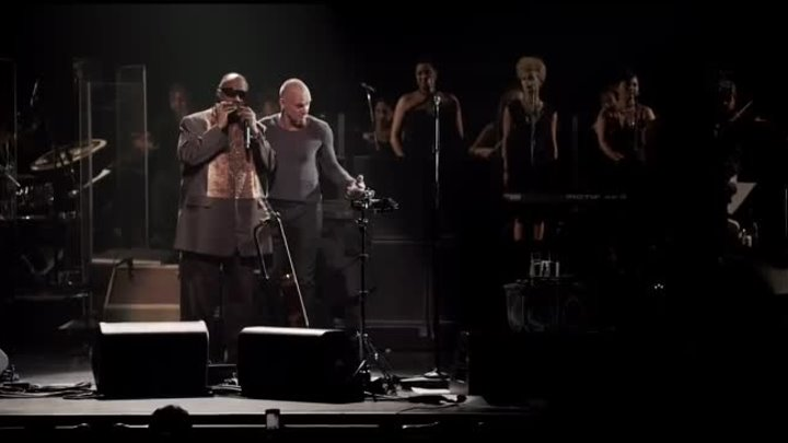 """Sting and Stevie Wonder - """"Fragile"""" (from Sting's 60th birthday concert)"""