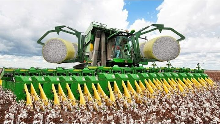 World Amazing Modern Agriculture Heavy Equipment Mega Machines Cotton Bale Tractor Harvester CNC