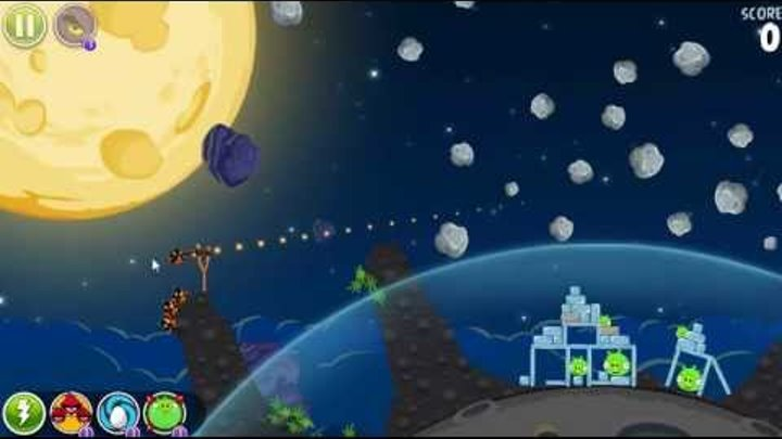 Angry Birds Space: Pig Bang Level 1-18 2-Star Walkthrough