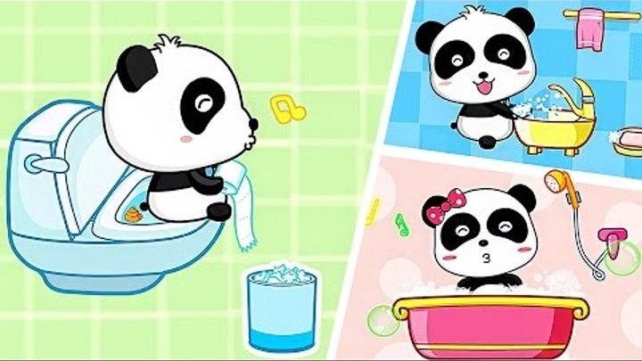 What Babies Do Game Fun Baby Panda Video for Little | Baby Panda´s Daily Life Games For Kids