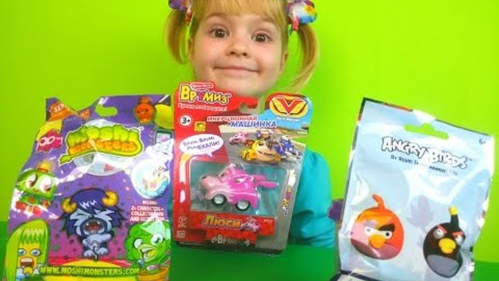 Angry birds Vrumiz car Moshi monsters new collection Энгри бердс Врумиз машинка Моши монстерс новая