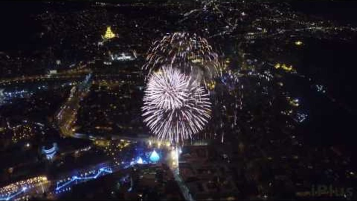 Tbilisi 2017 Fireworks Tbilisi New Year 2017(Drone Video) Amazing!
