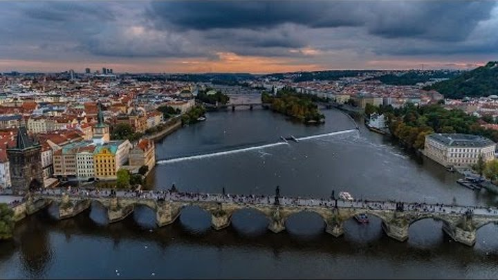 Prague Czech Republic by Drone in 4K