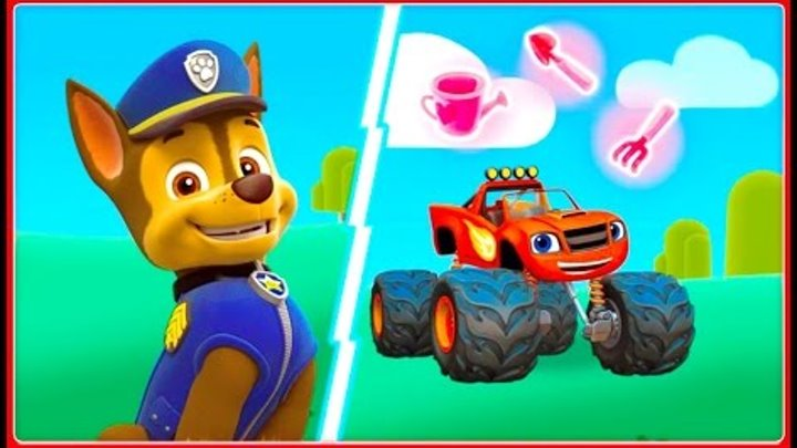 PAW Patrol - Blaze And The Monster Machines (Bubble Guppies Shimmer Shine) ►Frendship Garden