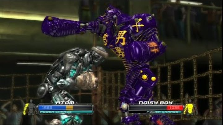 Real steel the game xbox 360/PS3(Atom vs Noisy Boy)Игра Живая сталь-реакция Атома