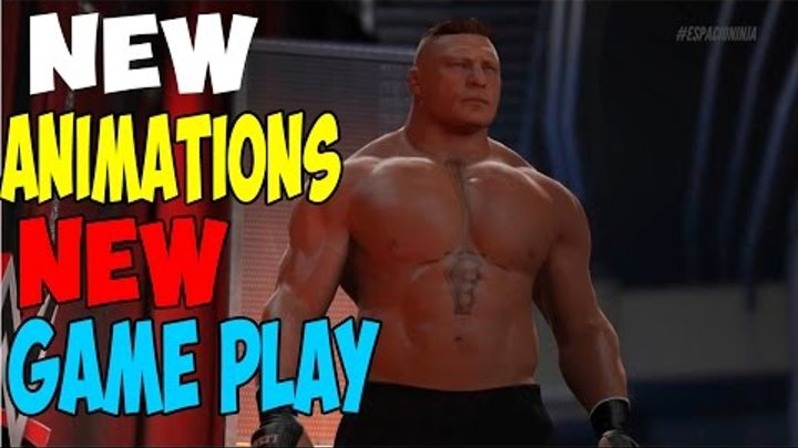 WWE 2K17 Extended Game play Demo New Animations, OMG Moments