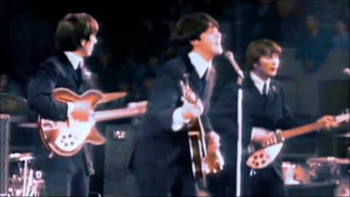The Beatles at Empire Pool, Wembley UK on 26 April 1964 (Colour)