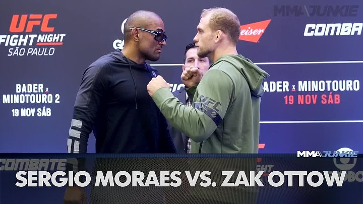 Fighters square off at the UFC Fight Night 100 media day faceoffs