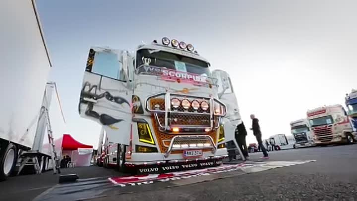 "Volvo Trucks - You don't want to get stung by this custom Volvo FH16 - ""Welcome to my cab - light"""