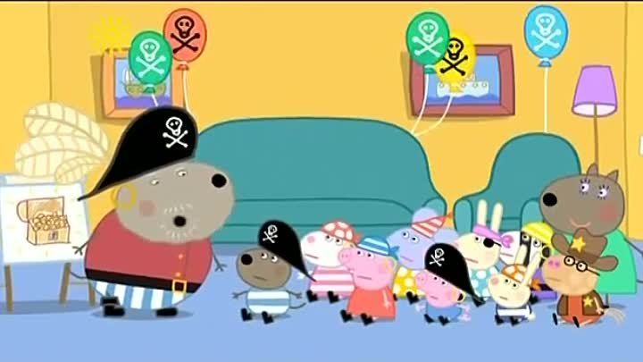Peppa Pig Season 3 Episode 16 Danny's Pirate Party