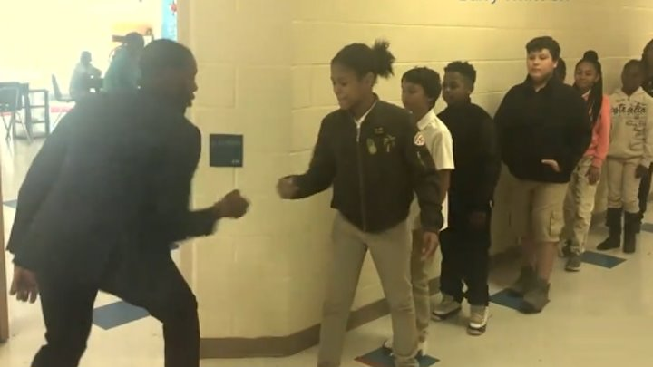 Teacher Has Incredible Handshakes With Each Student | ABC News