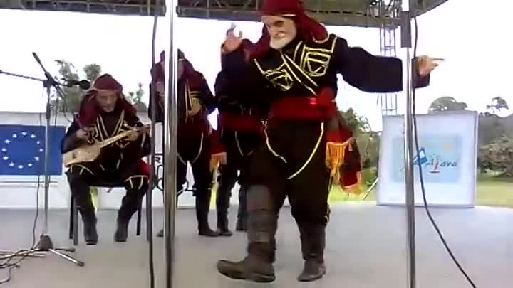 90 year old Georgian man dancing - Folk group Machakhela