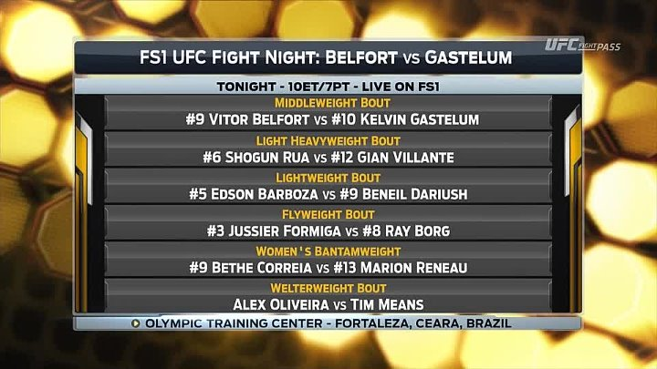 UFC Fight Night 106. Ранние прелимы