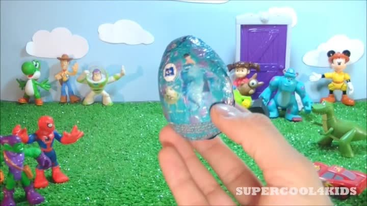 Monsters Inc. Boo Kinder Surprise Chocolate Egg! Cars 2 McQueen, Toy Story & Mario Bros