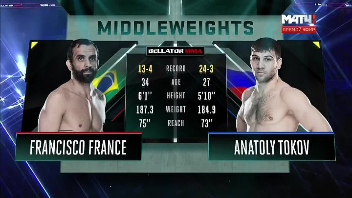 Анатолий Токов vs. Francisco France. Bellator 172