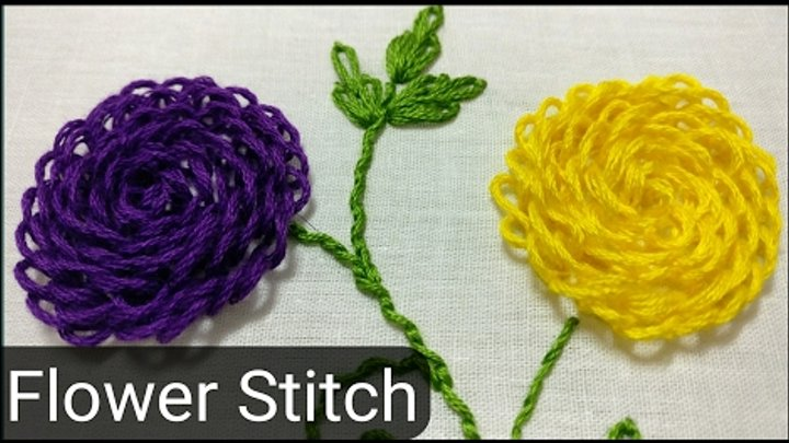Flower Hand Embroidery Stitch By Ek Indian Ghar
