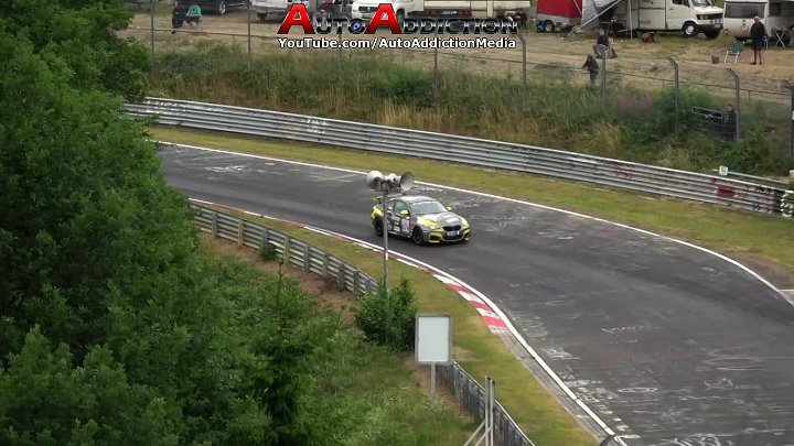 Driver Reacts In A Split Second To Avoid Hitting Squirrel At The Nürburgring Nordschleife