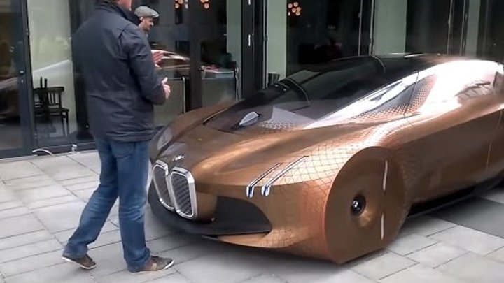 BMW VISION NEXT 100 on street - presentation drive (2016)