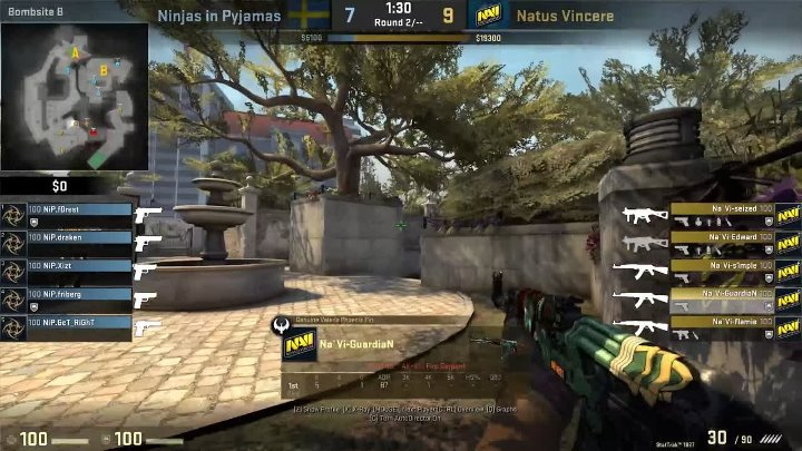 CSGO POV Na'Vi GuardiaN vs NiP (28⁄15) Overpass @ ESL Pro League Season 5 EU