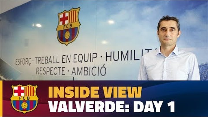 [BEHIND THE SCENES] FC Barcelona's new head coach lands in Barcelona and heads to Camp Nou